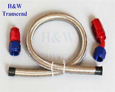 AN10 -10AN Stainless Steel Braided OIL FUEL GAS Line 1FT+ Hose End Fitting