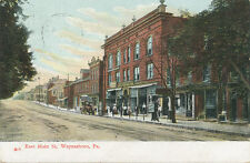 Waynesboro PA * East Main St.   1909  Soda Water Sign Street Scene  Franklin Co.