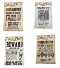 American Western Outlaw Posters Set Butch & Sundance, Billy The Kid Jesse James