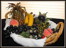 50% OFF ~ Lot of Mixed FAUX FRUIT~Fruit, Nuts and Berries~for Holiday Decorating