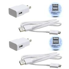 2X Wall Car Charger +Micro-USB Data Charging Cable For Samsung LG Android Phone