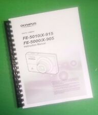 COLOR PRINTED Olympus Camera FE-5010 X-915 Manual User Guide 62 Pages.