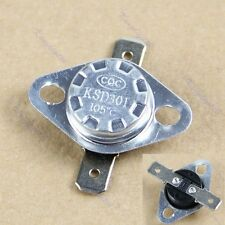 NC Temperature Controlled Switch Thermostat 250V 10A KSD301 105 °C Normal Close