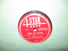 "4 Star 78 #1228 - ""T"" Texas Tyler - ""Deck Of Cards"" & ""Sweet Thing"""