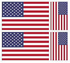 4 X AMERICAN USA FLAG VINYL CAR VAN IPAD LAPTOP STICKER