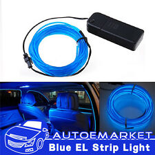 5M Blue Panel Gap Interior Light Cold Car LED EL Neon Lamp Atmosphere Glow Strip