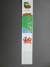 BOOKMARK Leather LAUGHERNE South Wales Welsh Dragon Map White Coloured