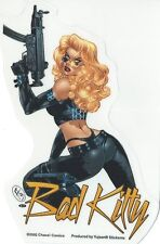 AUTOCOLLANT HOT & SEXY PIN UP- BAD KITTY -STICKER DECO USA / BIKER