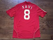 Men's XL adidas CLIMA365 2008-09 Spain Espana Xavi #8 Home Soccer Jersey