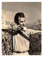 "1943 Howard Hill 11""x8 1/2"" Reproduction Photograph - archery - hunting - B&W"