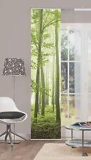 Flächenvorhang Gardine Nebelwald 86317-768 Wald Bäume Grün 60 x 245 cm kürzbar