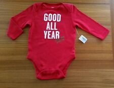 NWT Old Navy Unisex 3-6 MONTH Bodysuit GOOD ALL YEAR ASK SANTA Christmas 157215