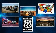 Route 66 Fridge Magnet Set. NEW.  The Mother Road.  Americana.