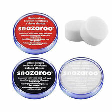 18ml SNAZAROO FACE & BODY PAINT SET (BLACK, WHITE, RED & 2 SPONGES)