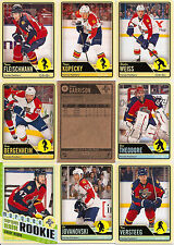 2012-13 OPC O-Pee-Chee Florida Panthers Complete Team Set w/ RC (17)