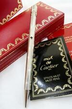 MUST de CARTIER, BALL POINT, BOXED  WITH ALL PAPERWORK 1989, SUPERB!