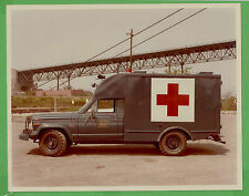 VTG 1976 Jeep J-200 US Air Force Ambulance File Photo 8x10 Driver Side View 5121