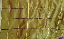 5m Quality    Faux Silk Gold  Checked  Fabric   Free UK P&P