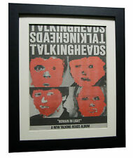 TALKING HEADS+Remain Light+POSTER+AD+RARE+ORIGINAL+1980+FRAMED+FAST GLOBAL SHIP