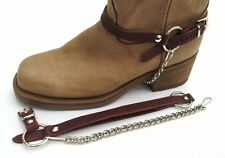WESTERN BOOT CHAINS BROWN TOPGRAIN COWHIDE LEATHER HARNESS STRAPS