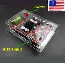 NEW AUX TDA7492P 50W+50W Wireless Bluetooth 4.0 Audio Digital Amplifie+Case Kit