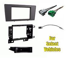 Car Stereo Radio Dash Install Mount Trim Bezel Face Kit Combo for select Volvo