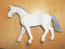 Playmobil,WHITE HORSE with GREY MANE,TAIL