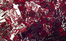 """100 1/2"""" Ruby Red Granite Stained Glass Mosaic Tiles"""