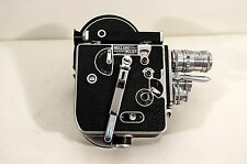 Paillard Bolex 16mm Movie Camera with Three Lens Turret WORKING!