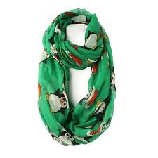 Winter Holiday Christmas Chilly Santa Penguin Wide Loop Infinity Scarf Wrap