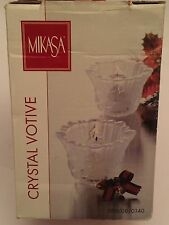 "Mikasa Holiday Classic Votive 3"" Candle Holders, Christmas"