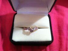 10K yellow gold ring Hearts small diamonds SUPER PRETTY Size 7 1.6 grams L@@K