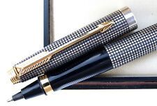 Parker 75 MD Argent Massif 925 Sterling Silver Cisele Rollerball Pen France Box