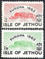 Jethou (Channel Islands)1962 Europa/Island/Coat-of-Arms/Animation 2v set n40804
