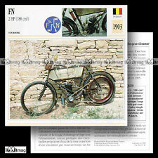 #047.17 FN FABRIQUE NATIONALE 188cc 2 HP 1903 Fiche Moto Classic Motorcycle Card