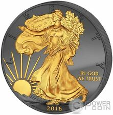 GOLDEN ENIGMA Walking Liberty 30 Years Eagle Silver Coin 1$ Dollar US Mint 2016