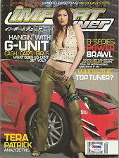 TERA PATRICK SIGNED AUTO'D 2004 SEPTEMBER IMPORT TUNER MAGAZINE PSA/DNA COA SEXY