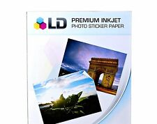 10 Sheets Sticker LD Paper GLOSSY White Inkjet Laser Printer Photo Decals 8.5x11