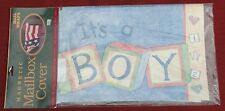 IT'S A BOY Birth Announcement Original Magnetic Mailbox Wrap Cover BLUE NEW