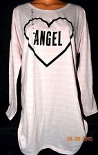 Victorias Secret Velour ANGEL Logo Sleepshirt Night Gown Pajamas NWT L