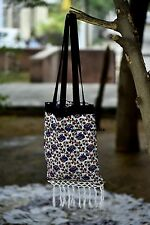 Indian Hand Bag Cotton Mandala Elephant Design Towel Roundie Carry Bags Handmade