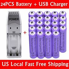 24 x AAA 1800mAh Ni-Mh Rechargeable Battery + USB Charger For MP3 RC Toys Camere