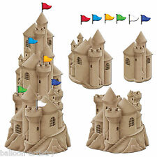 Tropical Beach Summer BBQ Party Stackable Sandcastle Cutouts Decorations Set