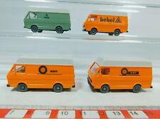 AV175-0,5# 4x Wiking H0 Transporter Volkswagen/VW LT 28: WMR+Gas+Palanca, NUEVO