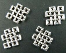 200pcs Tibetan Silver Chinese Knot Connectors 12.5x10mm 194