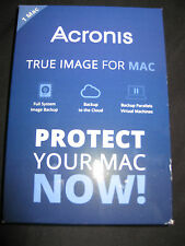 Acronis TRUE IMAGE FOR 1 MAC , NEW IN BOX