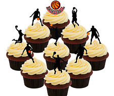 Basketball Party 36 Edible Cup Cake Toppers, Standup Fairy Bun Decorations Sport
