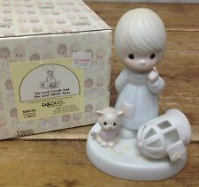 Precious Moments Figurine The Lord Giveth Lord Taketh Away 100226 Bird Gone Cat