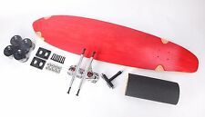 "40"" Red Kicktail Blank Black wheels Complete Longboard Kit"
