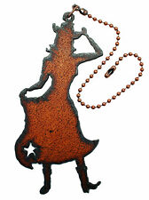 Western Home Decor Rustic Metal Cowgirl Decorative Ceiling Fan Pull Light Pull